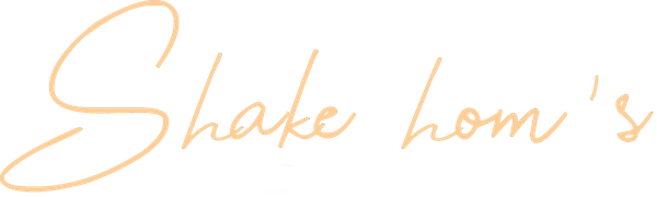 enseigne shake hom's écriture